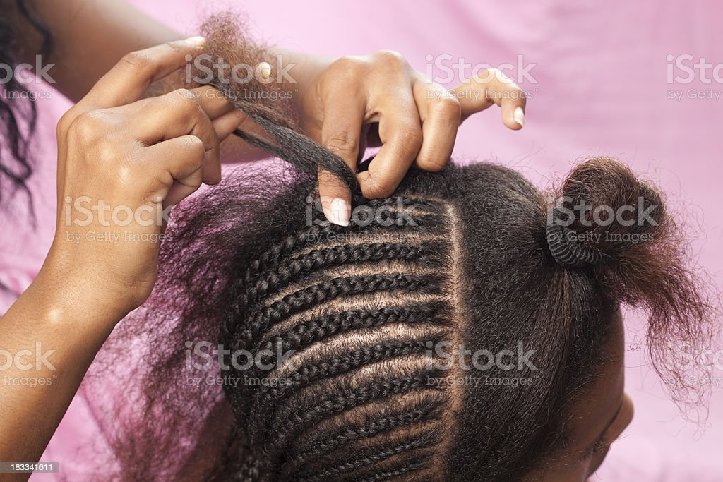 Hair extension. stock photo