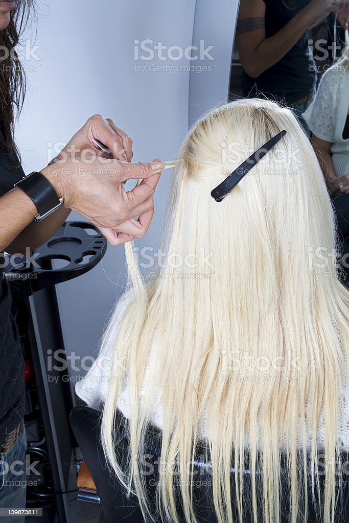 Hair extensions 3 royalty-free stock photo