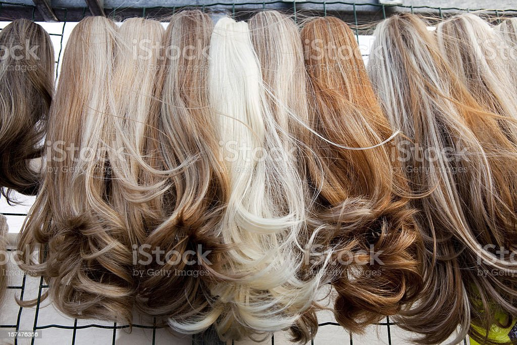 Hair Extensions for Sale in Amsterdam stock photo