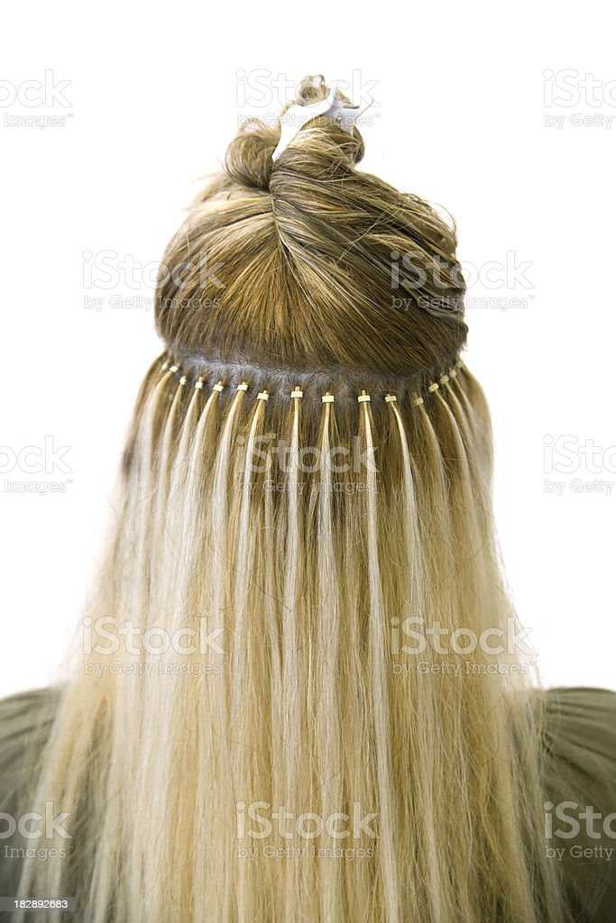 Hair extensions royalty-free stock photo