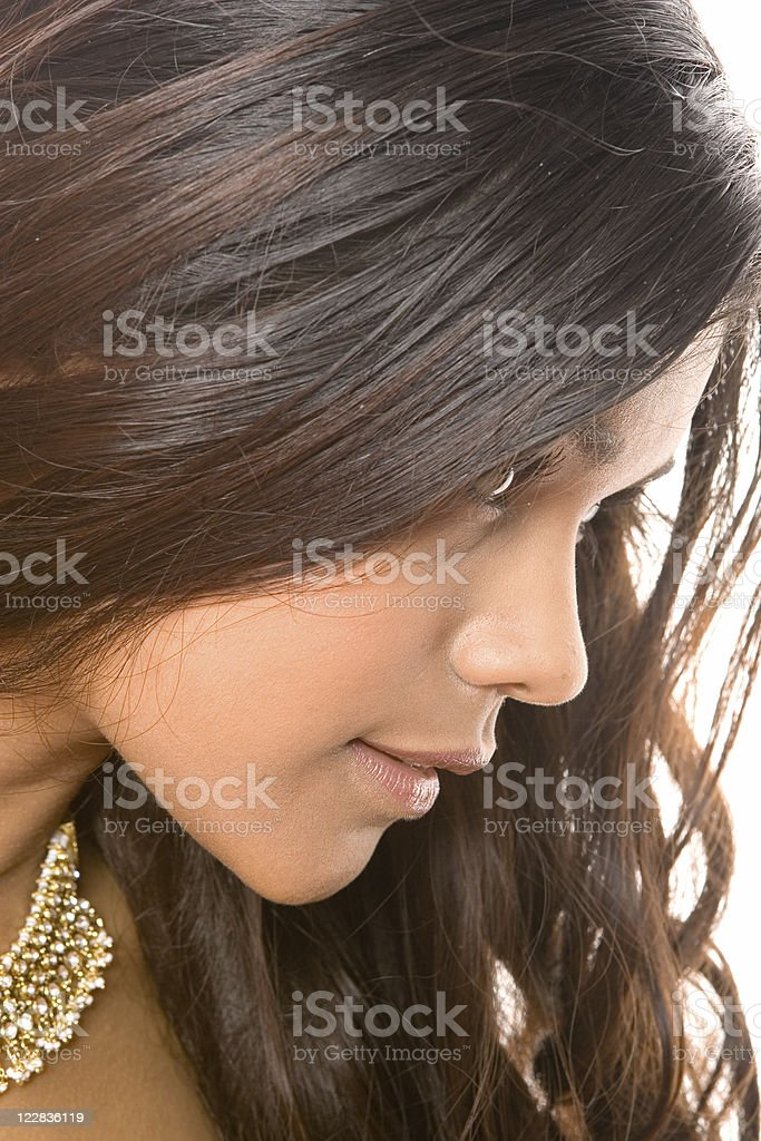 hair falling royalty-free stock photo