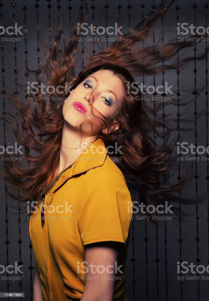 Hair flip royalty-free stock photo