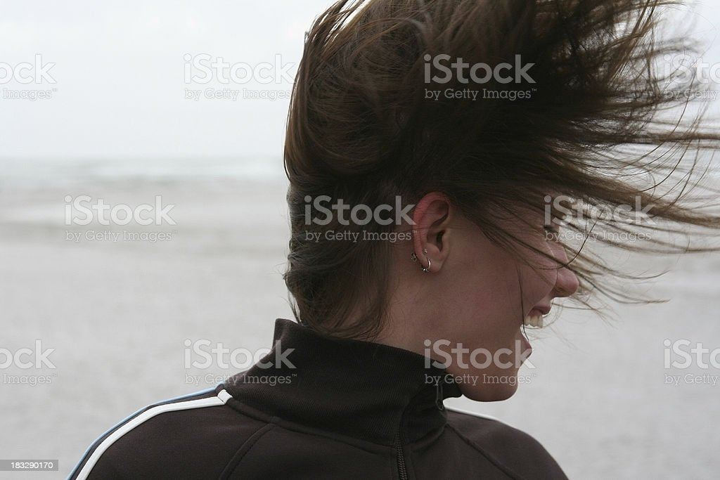 Hair Flurry royalty-free stock photo