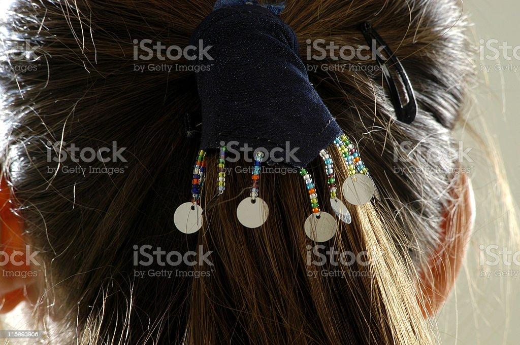Hair grip stock photo
