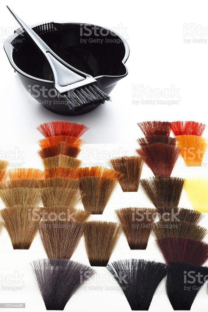 Hair Highlighting and Coloring Tools royalty-free stock photo