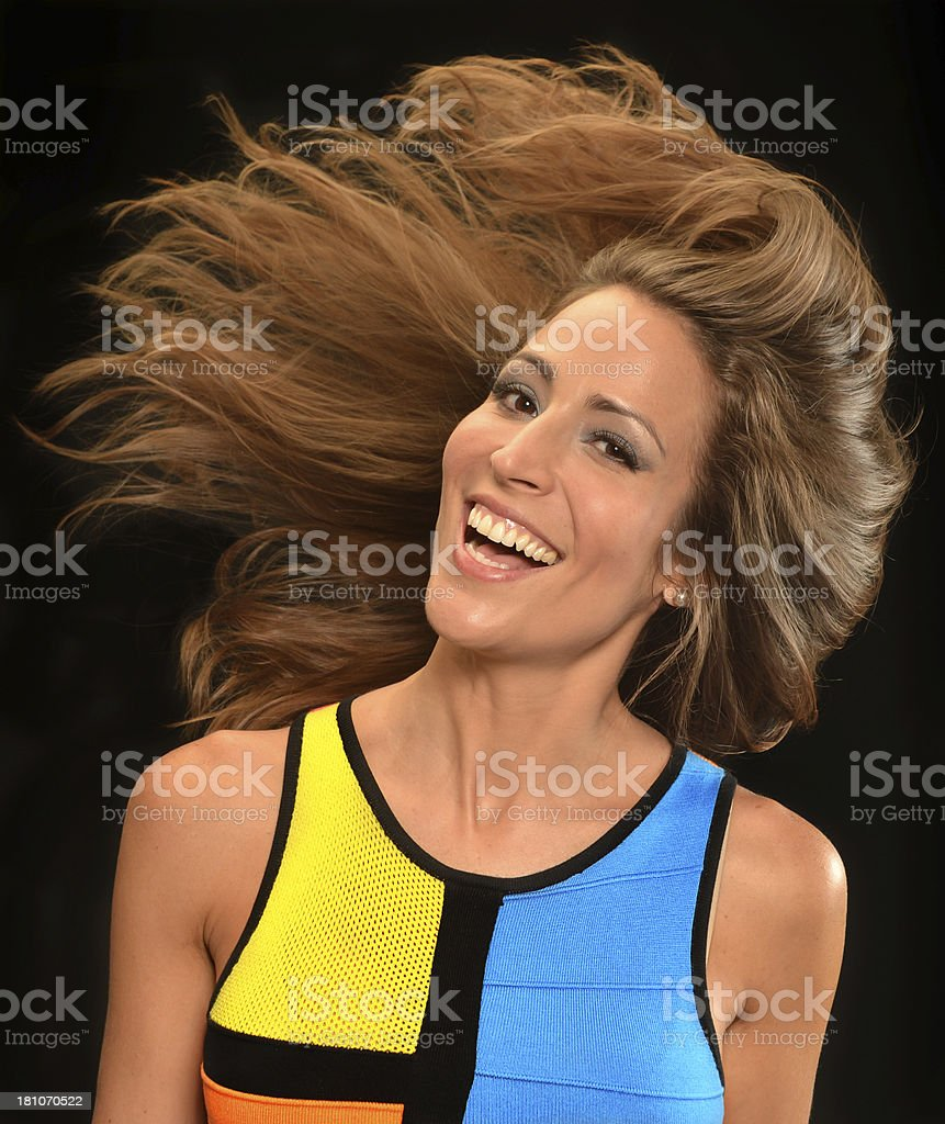 Hair in motion royalty-free stock photo