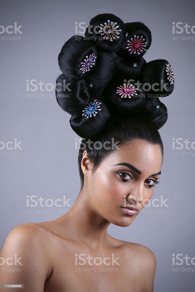 Hair Jewels royalty-free stock photo