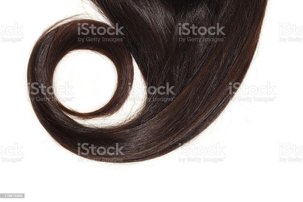 hair lock brown stock photo