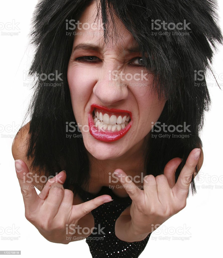 Hair Metal Chick royalty-free stock photo
