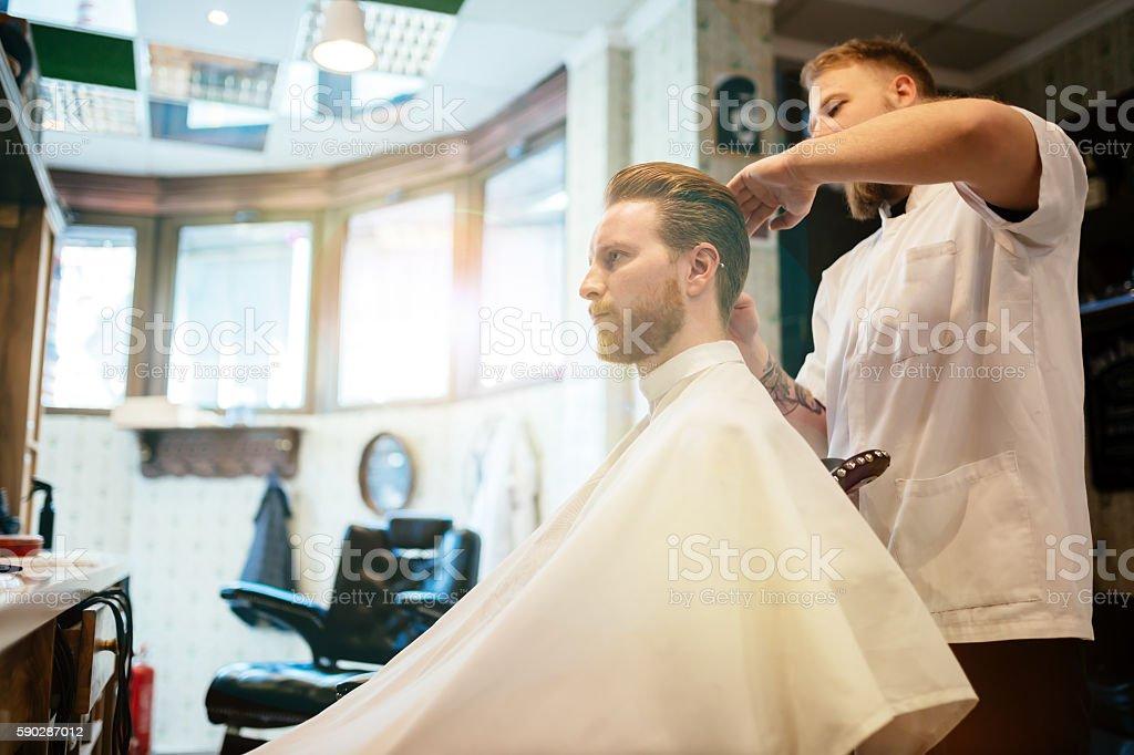 Hair mustache beard treatment stock photo
