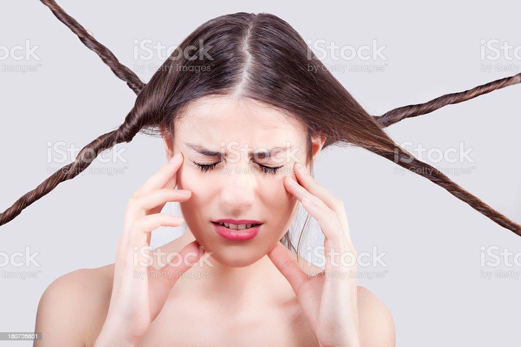 Hair Problem royalty-free stock photo