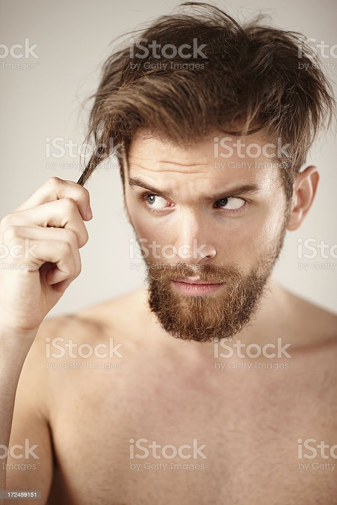 Hair Problems royalty-free stock photo