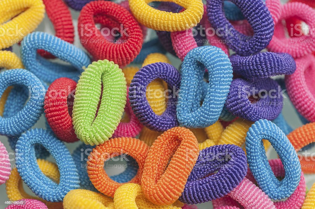 hair rubber bands series 02 stock photo