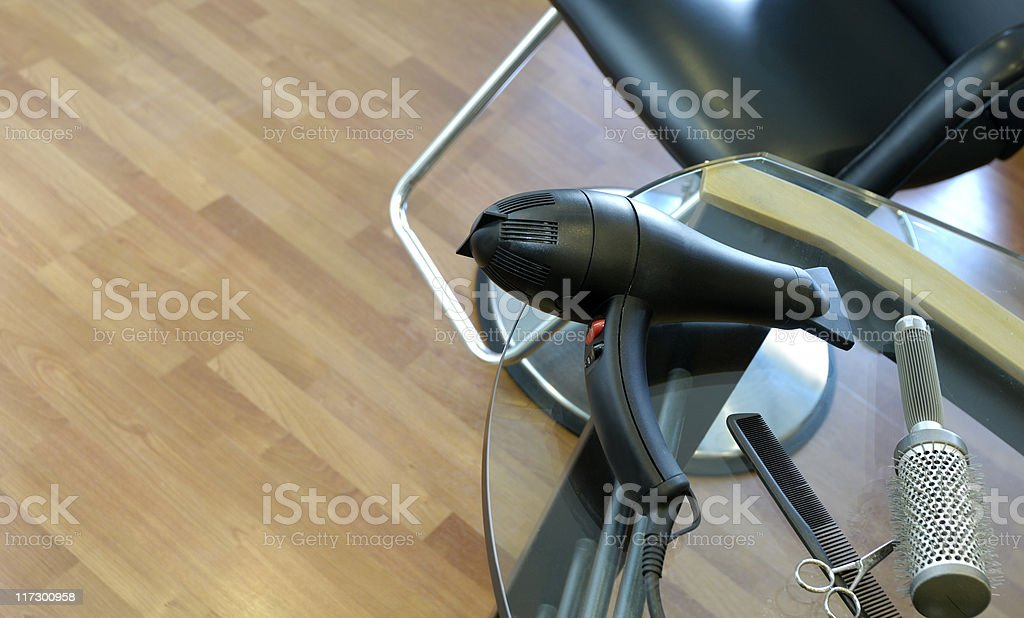 Hair salon and styling tools royalty-free stock photo