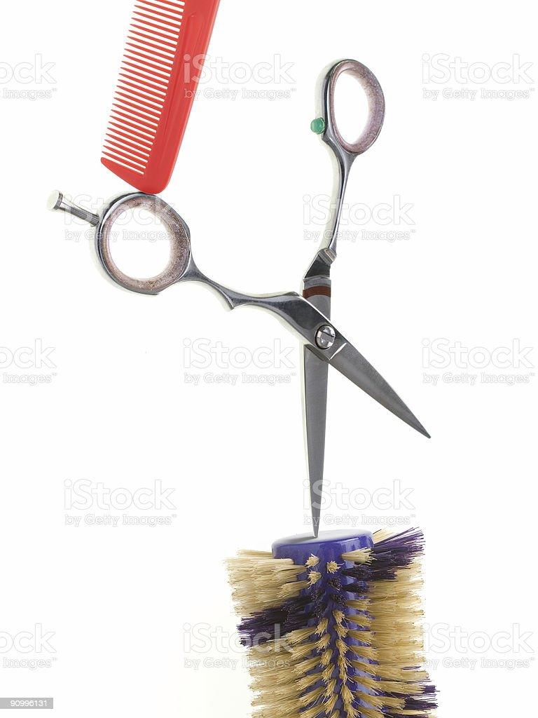 Hair Salon Collage royalty-free stock photo