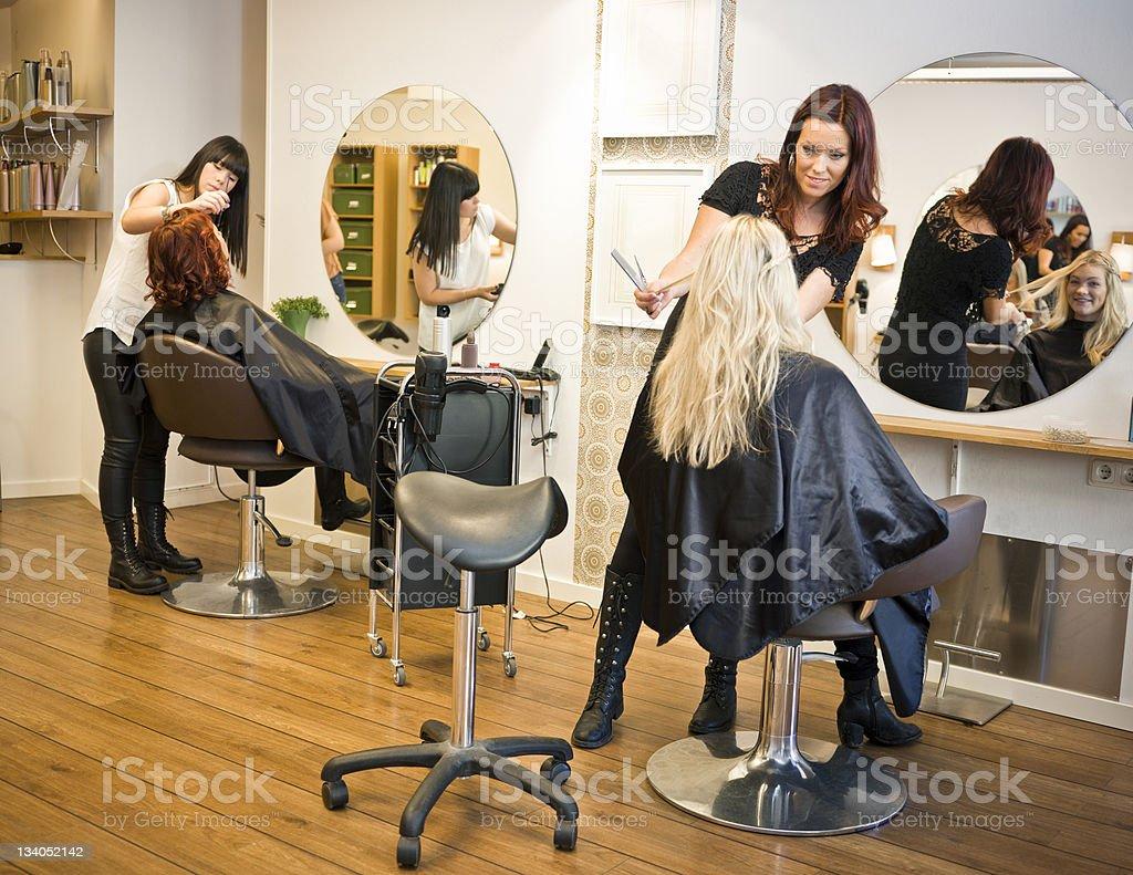 Hair salon situation royalty-free stock photo