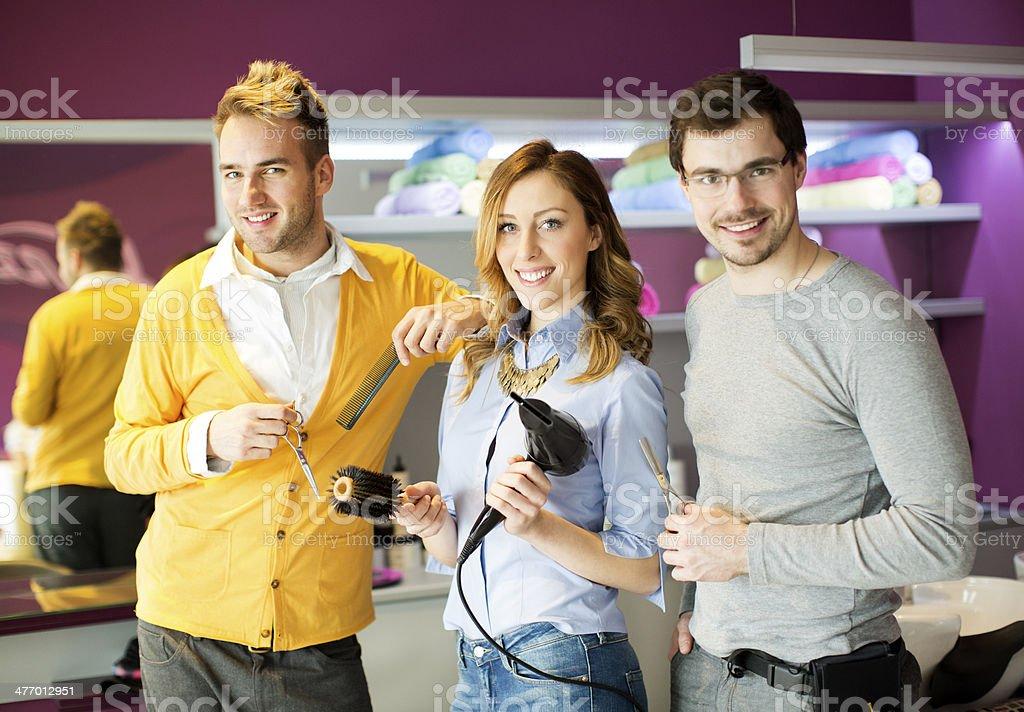 Hair Salon Team. royalty-free stock photo