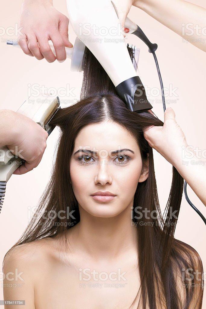 Hair salon treatment royalty-free stock photo