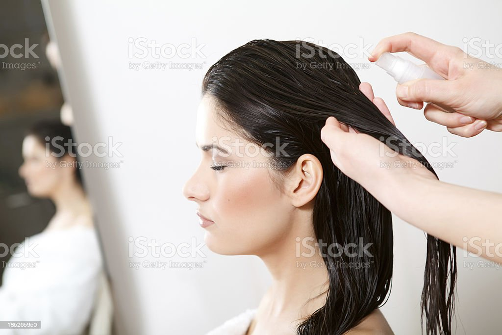 Hair salon treatment stock photo
