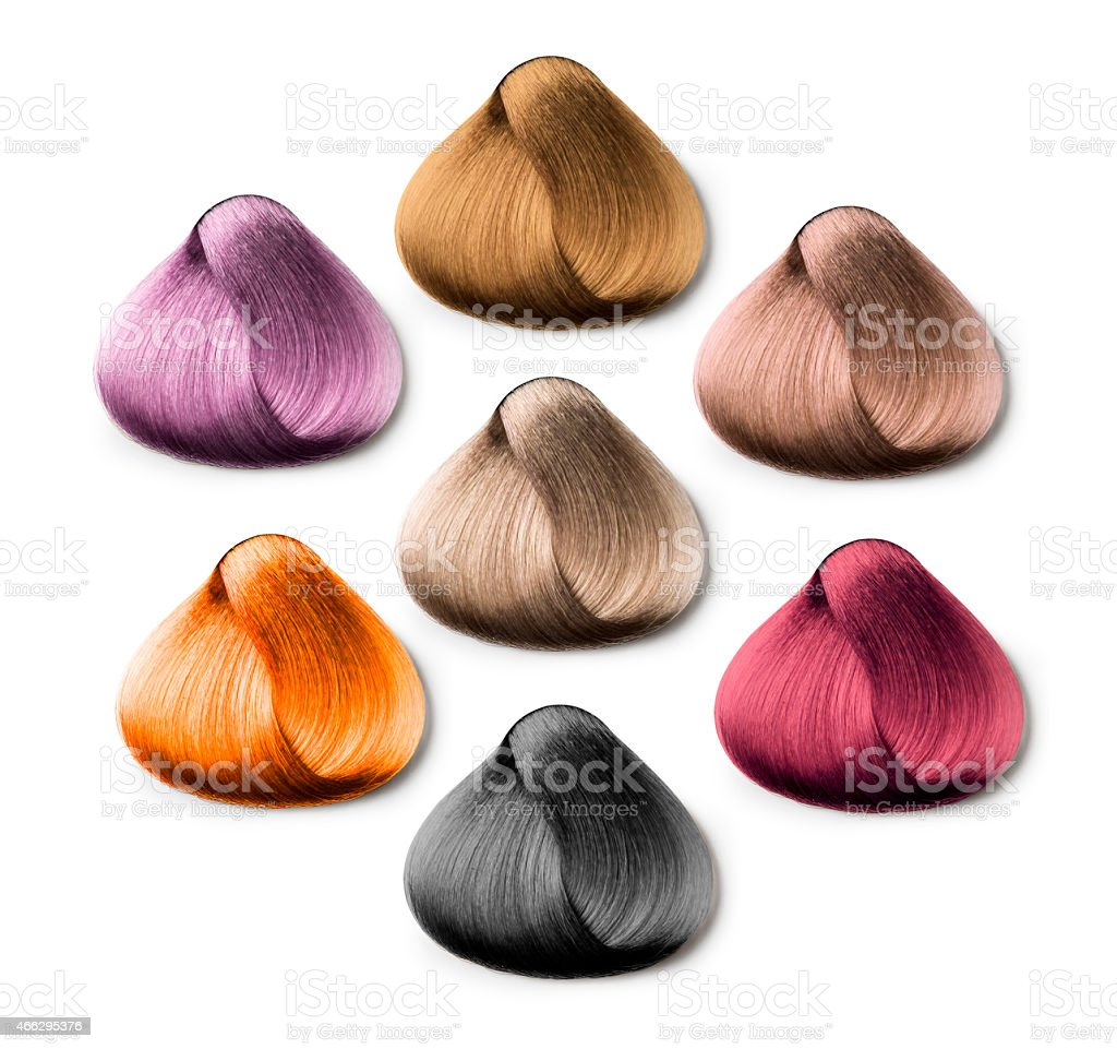 hair samples stock photo