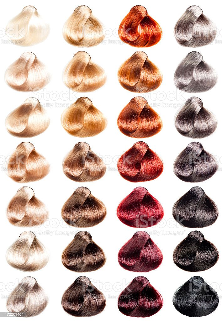 Hair samples stock photo
