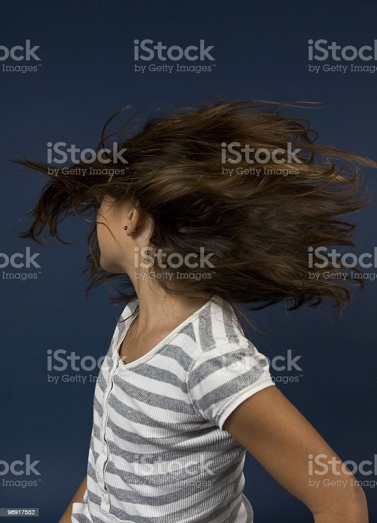 Hair Spin stock photo