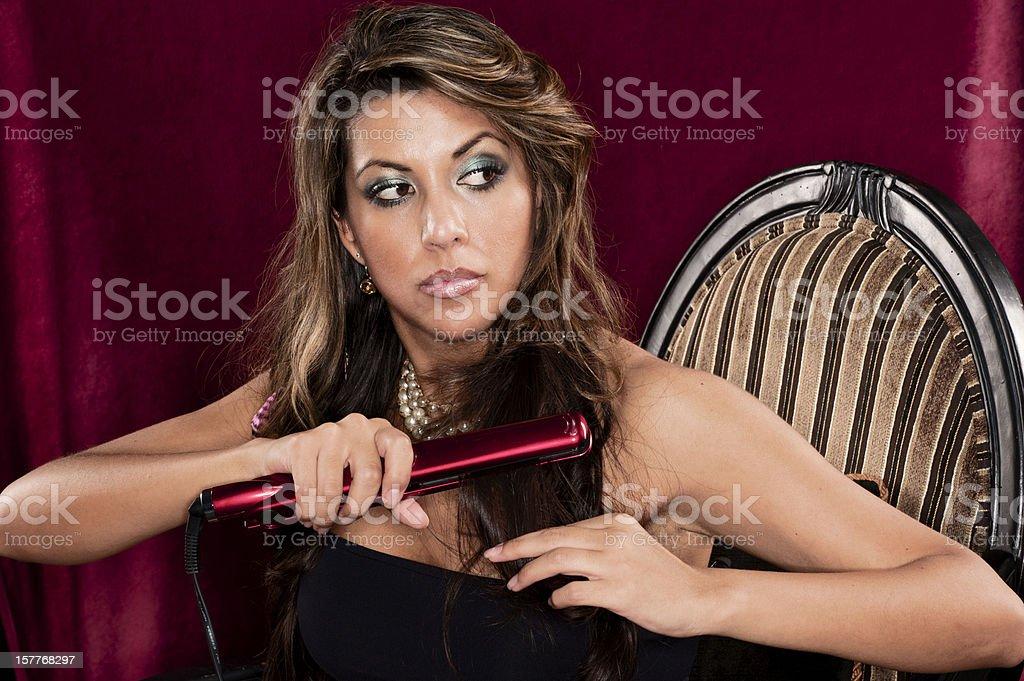 Hair Straightener royalty-free stock photo