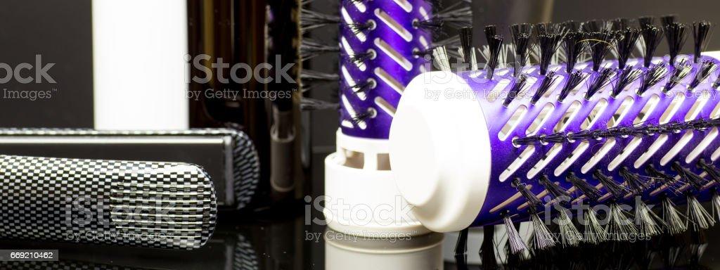 hair straightener stock photo
