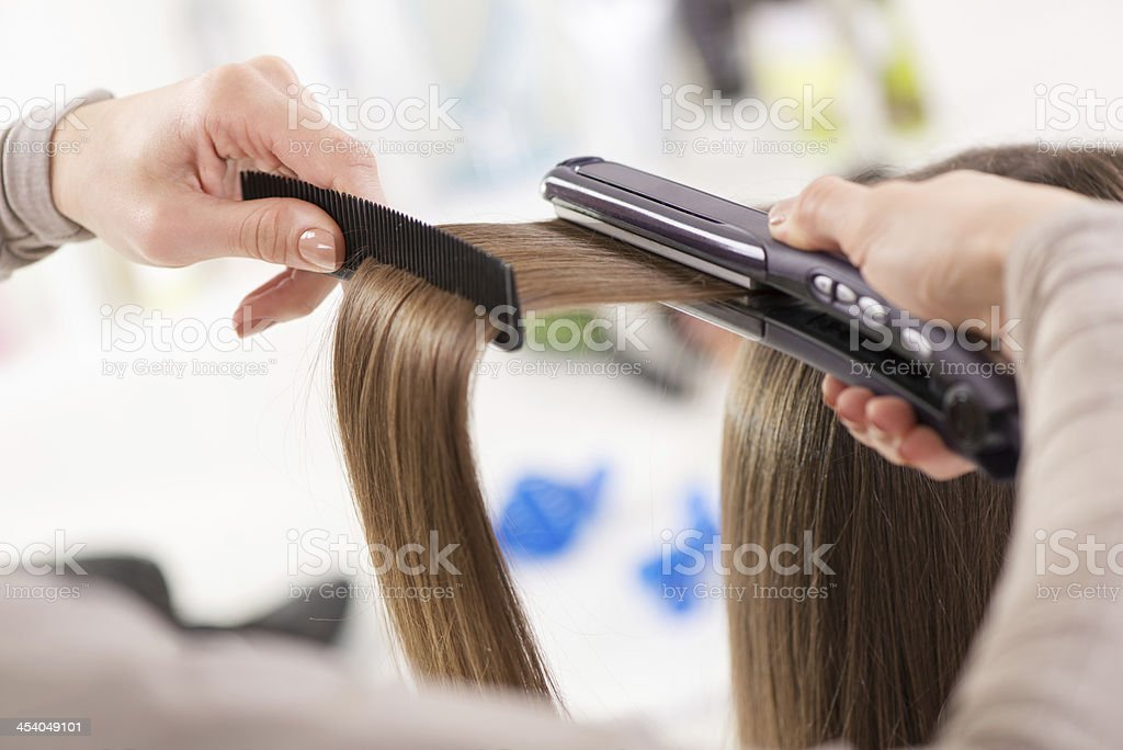 Hair Straighteners. stock photo