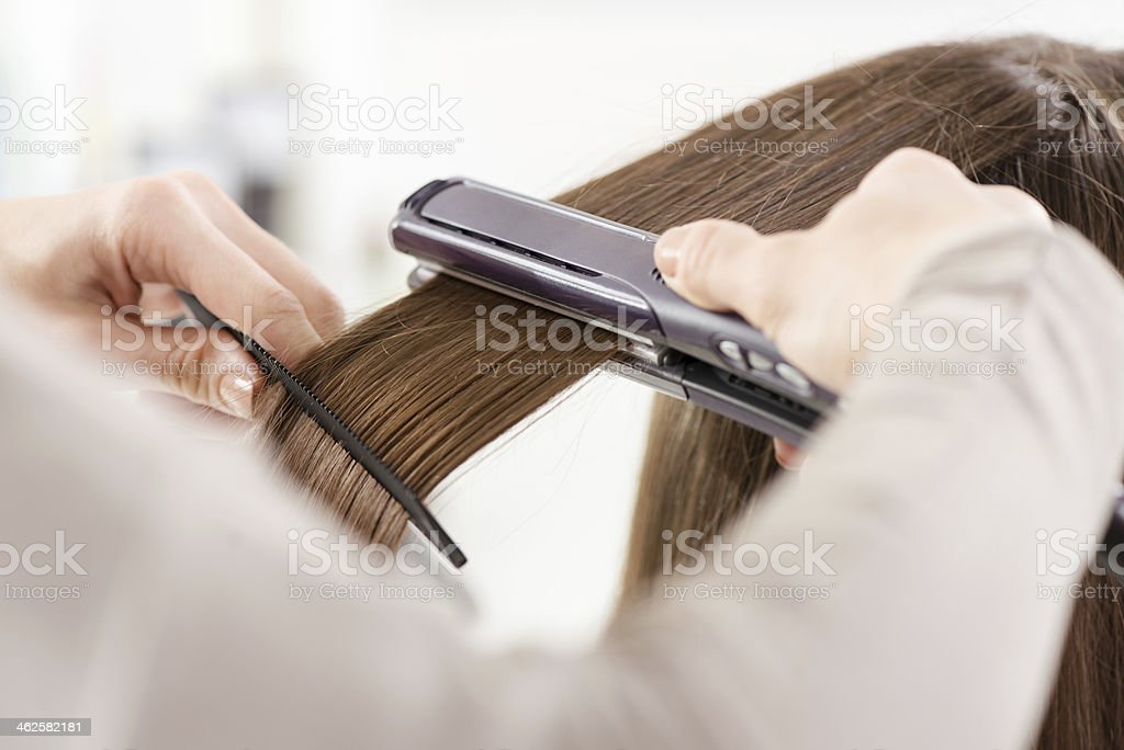 Hair Straighteners. stock photo