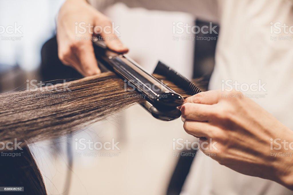 Hair Straighteners... stock photo