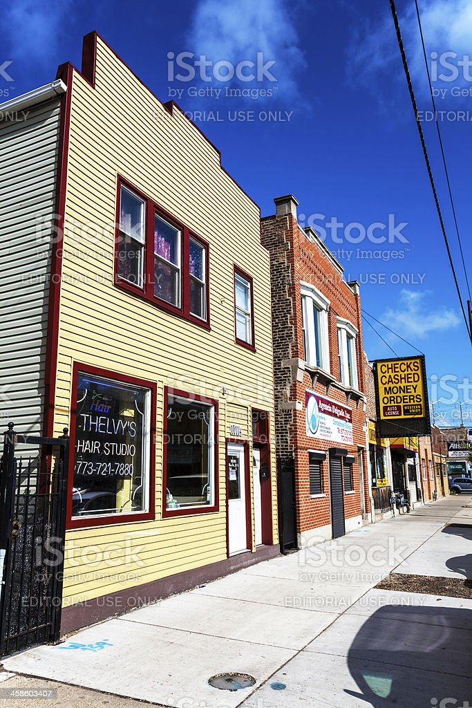 Hair Studio in East Side, Chicago stock photo