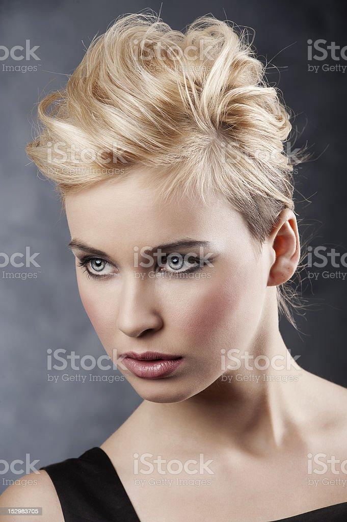 hair style portrait royalty-free stock photo