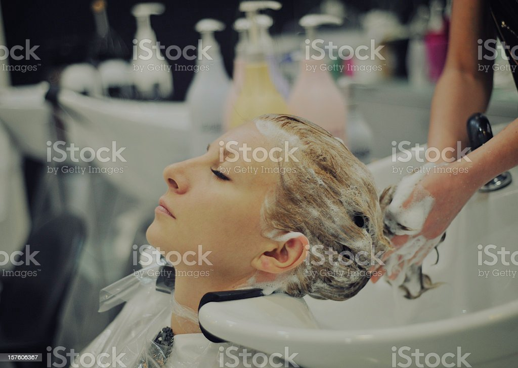 hair style salon stock photo