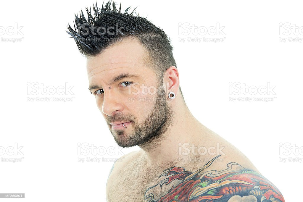 Hair styled man - Look stock photo