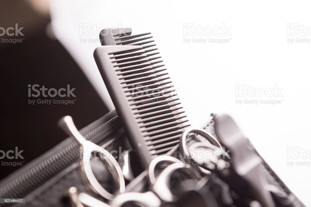 Hair Styling and Cutting Toolbelt stock photo