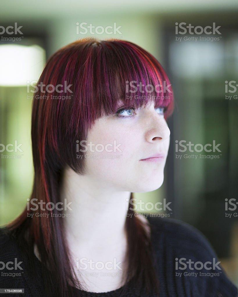 Hair Styling Portrait stock photo