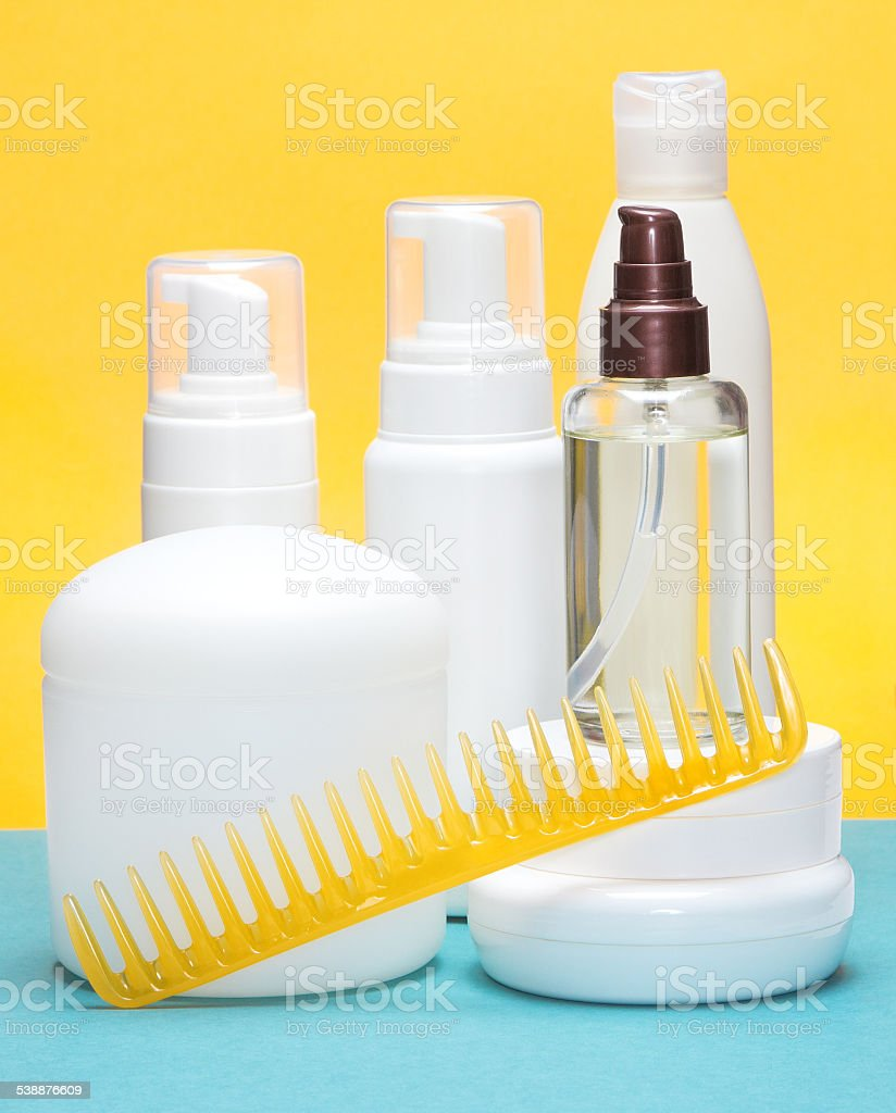 Hair styling products stock photo