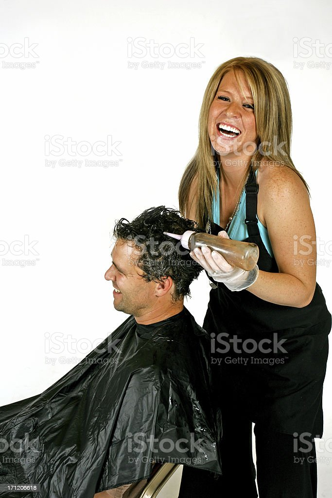 hair stylist royalty-free stock photo