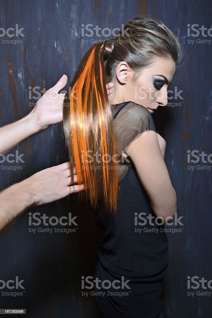 Hair stylist royalty-free stock photo