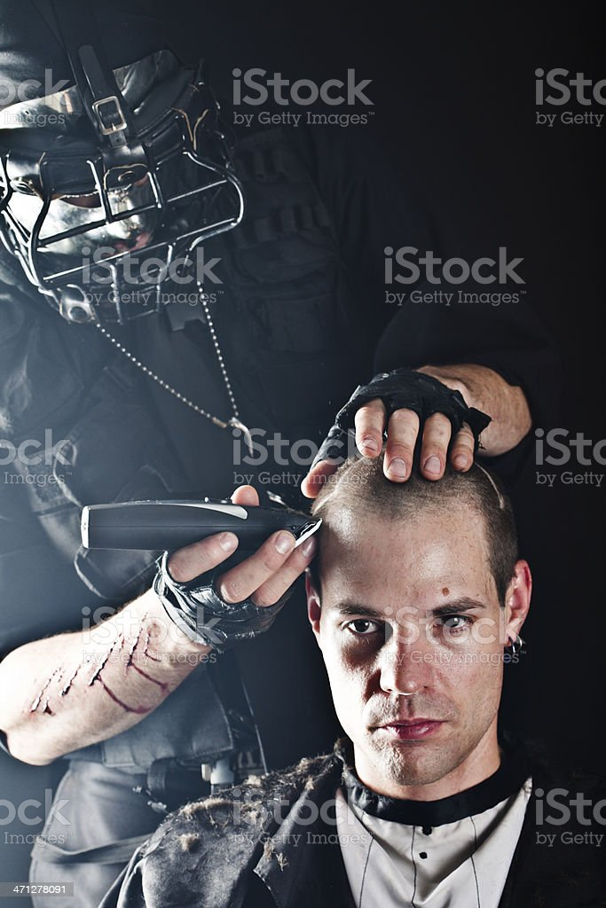 Hair Tattooing royalty-free stock photo