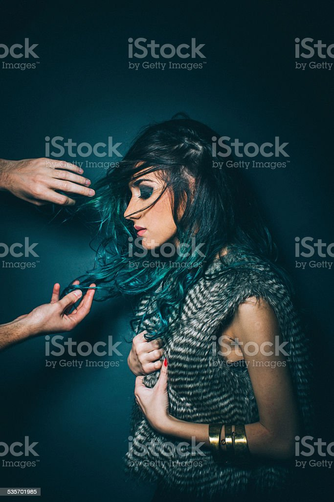 Hair that needs attention stock photo
