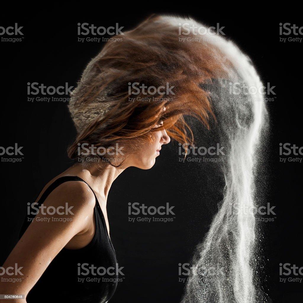 Hair trail stock photo