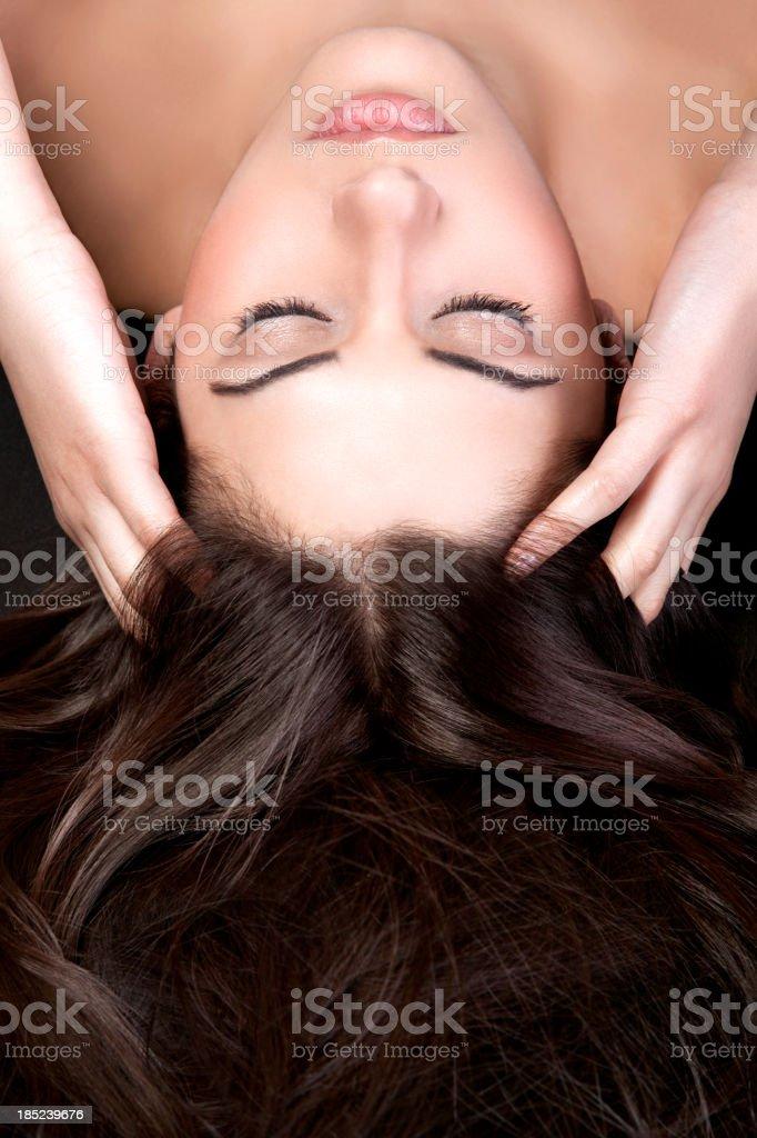 Hair treatment stock photo