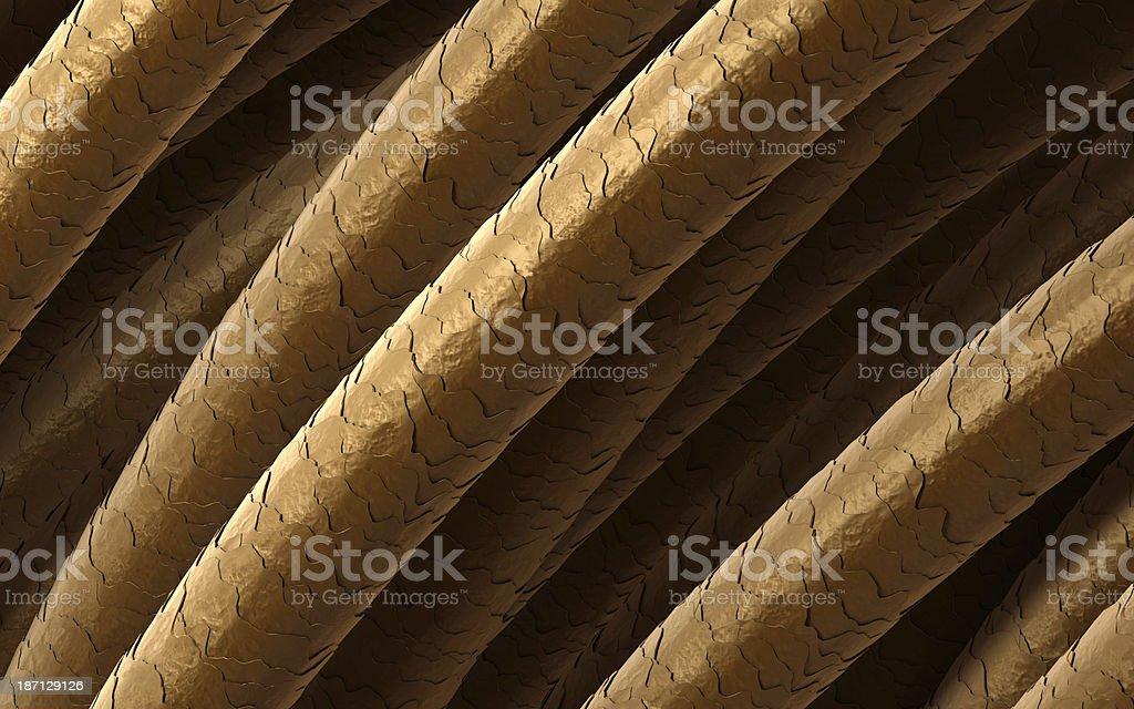 Hair under microscope stock photo