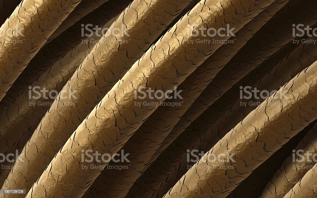 Hair under microscope stock photo