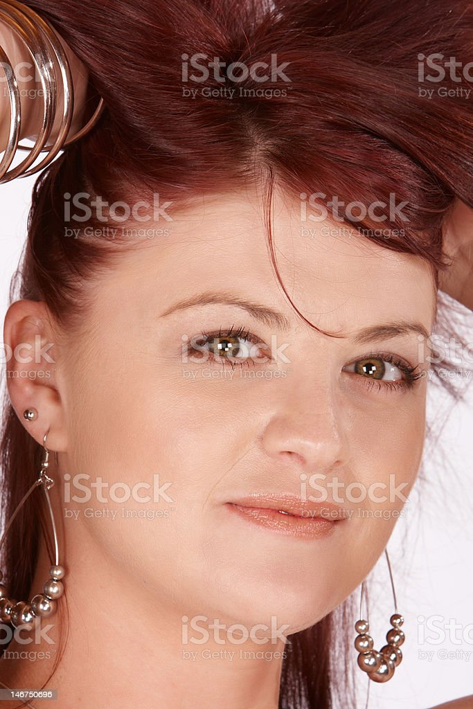 Hair up royalty-free stock photo
