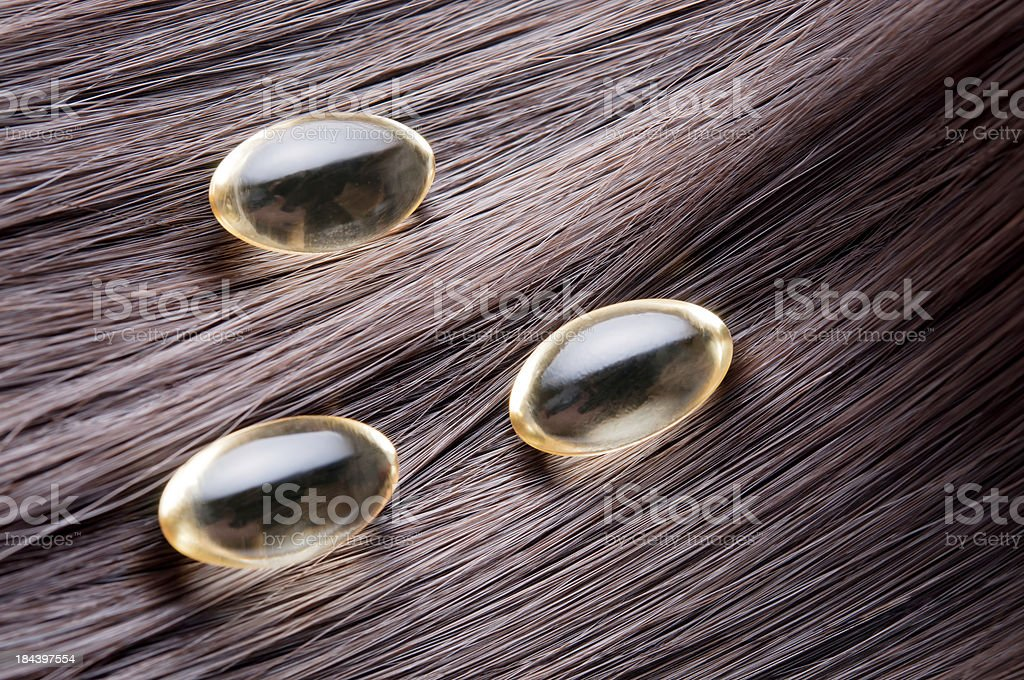 hair vitamins stock photo