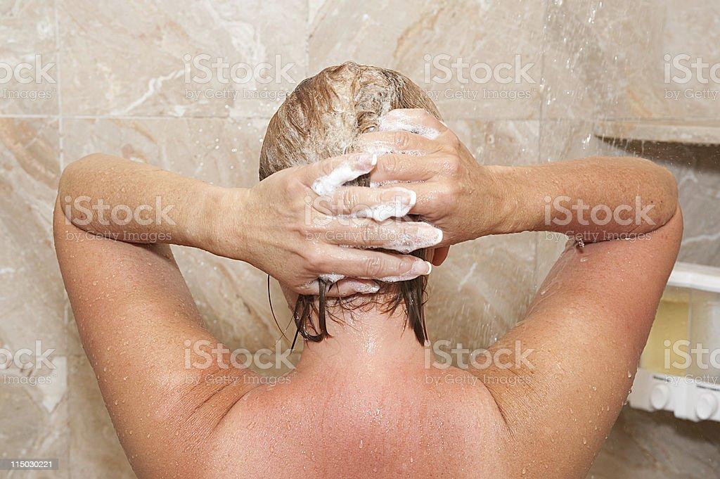 hair washing royalty-free stock photo