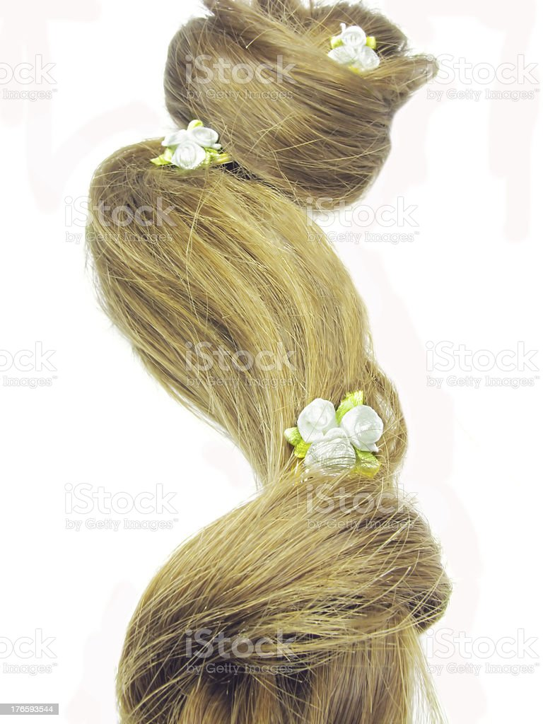 hair wave elegant wedding coiffure royalty-free stock photo